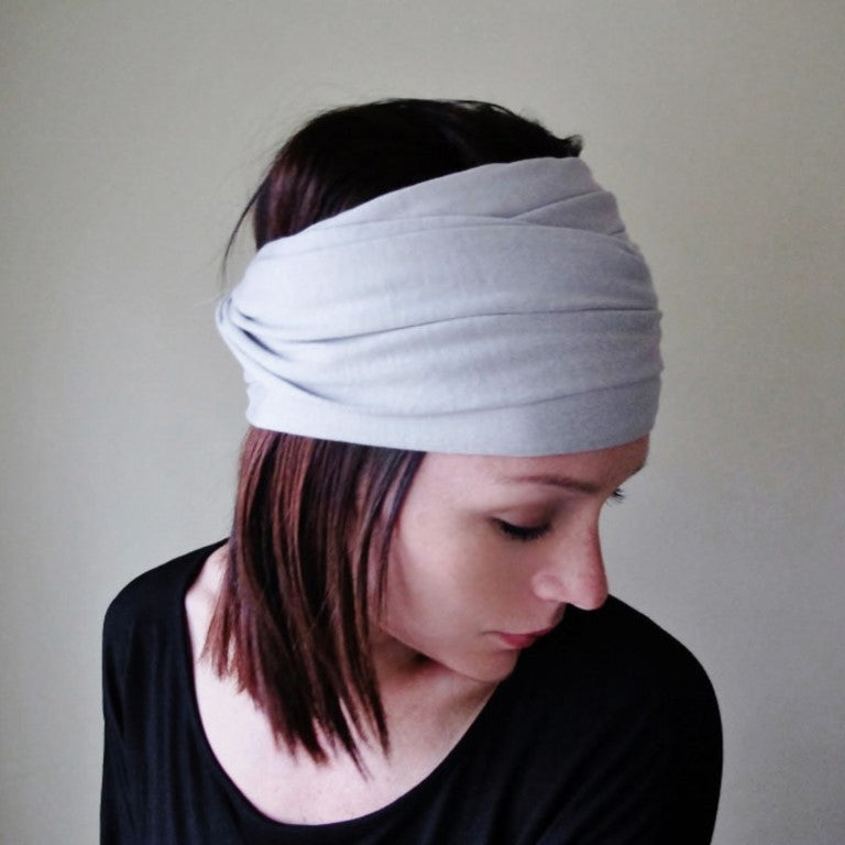 ecoshag dove gray head scarf