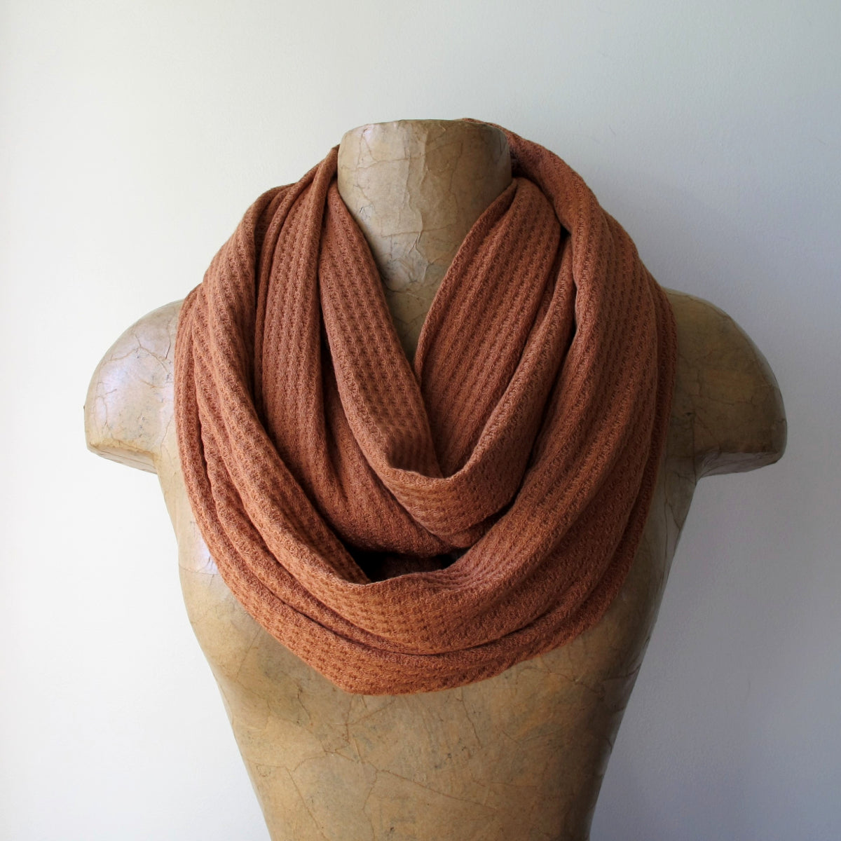 burnt orange ecoshag infinity scarf