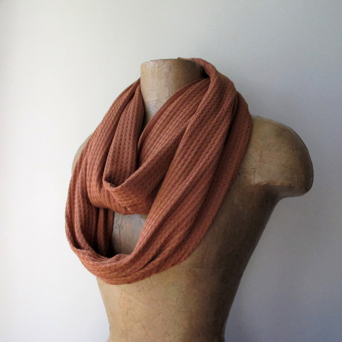 ecoshag burnt orange infinity scarf