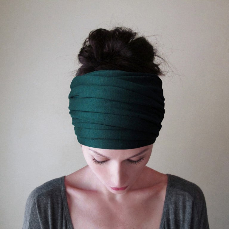 EcoShag EMERALD GREEN Head Scarf