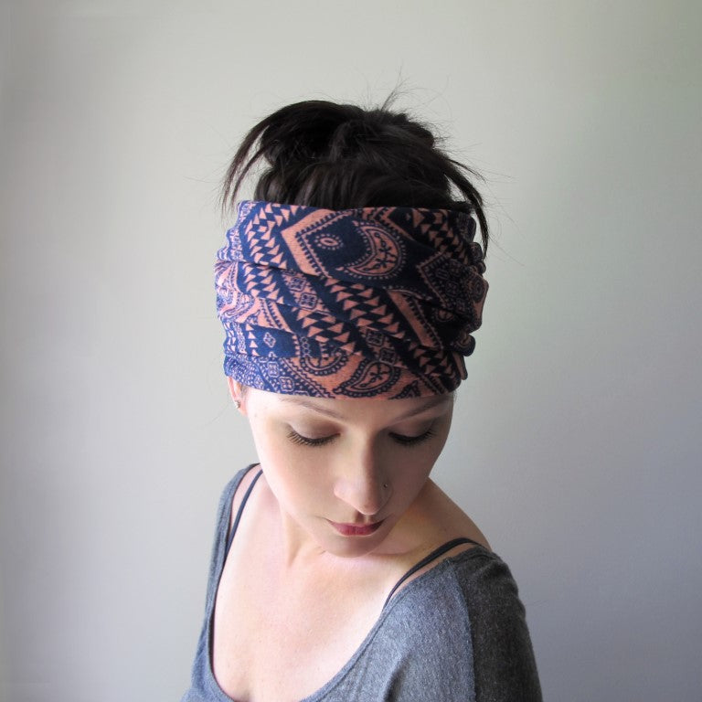fair isle ecoshag head scarf
