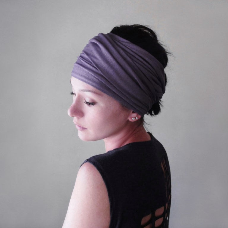 lavender head scarf for women