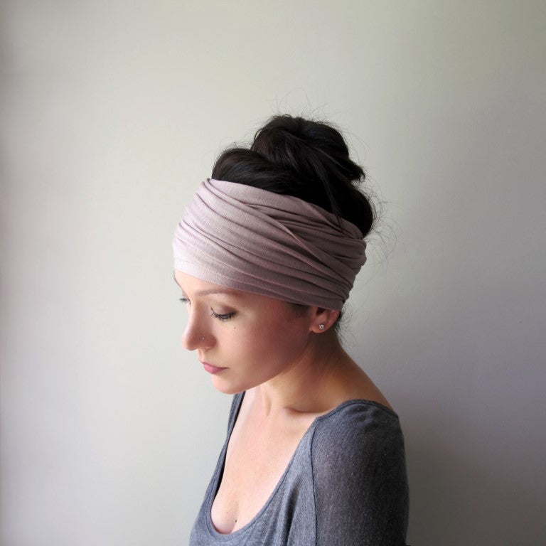 light taupe head scarf for alopecia