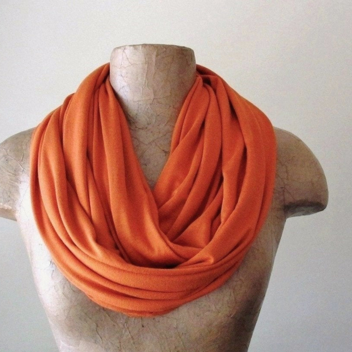 orange infinity scarf by ecoshag