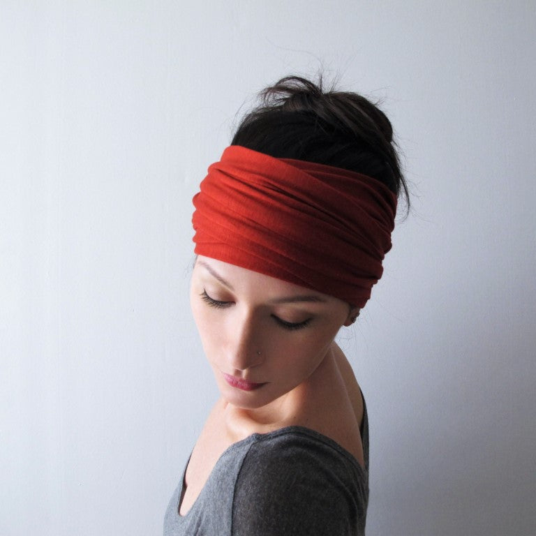 ecoshag paprika boho head scarf for women