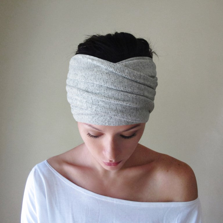 ecoshag sweater knit head scarf