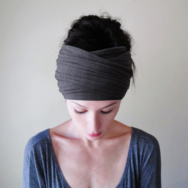 ecoshag sweater knit head scarf for women