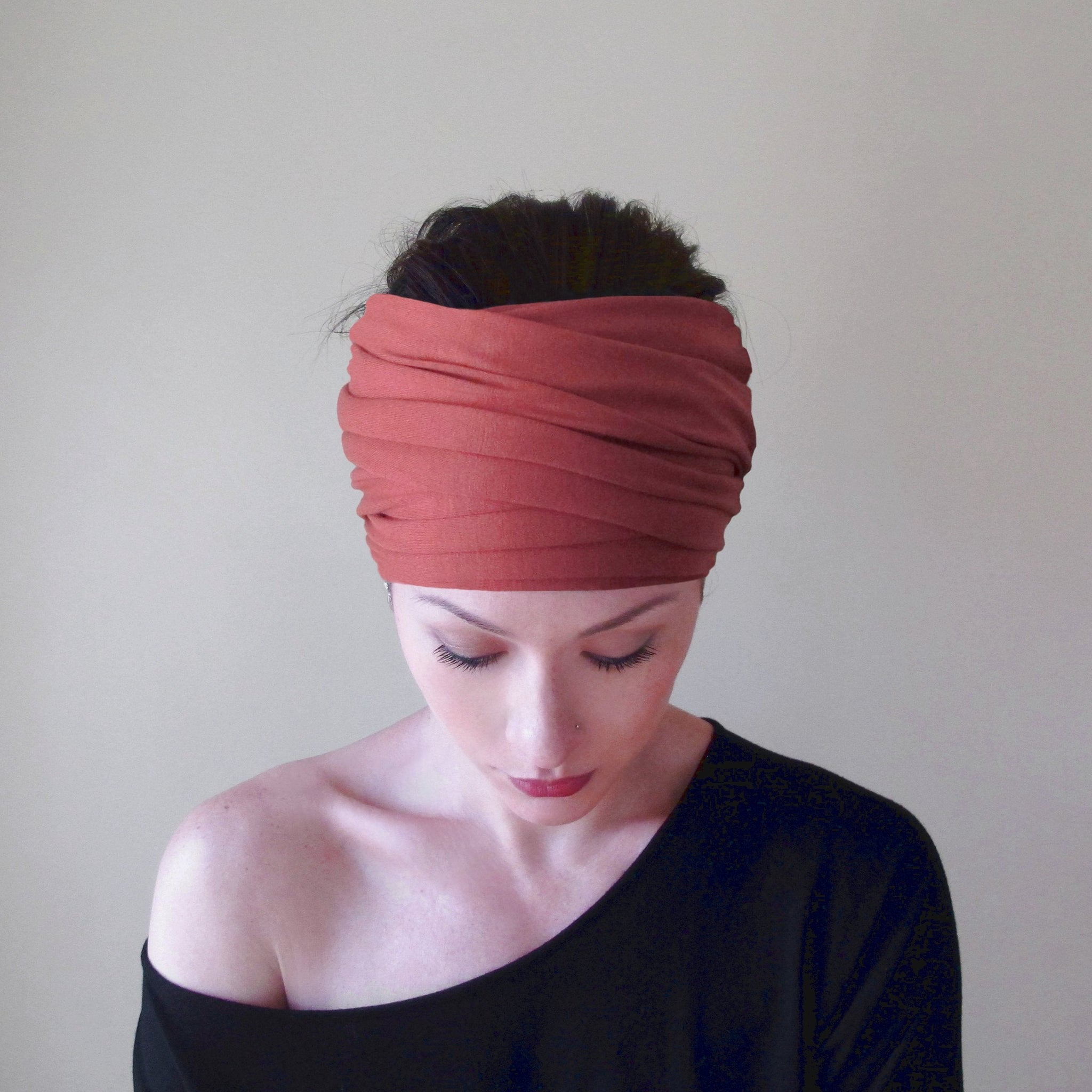 EcoShag Dark Salmon hairscarf
