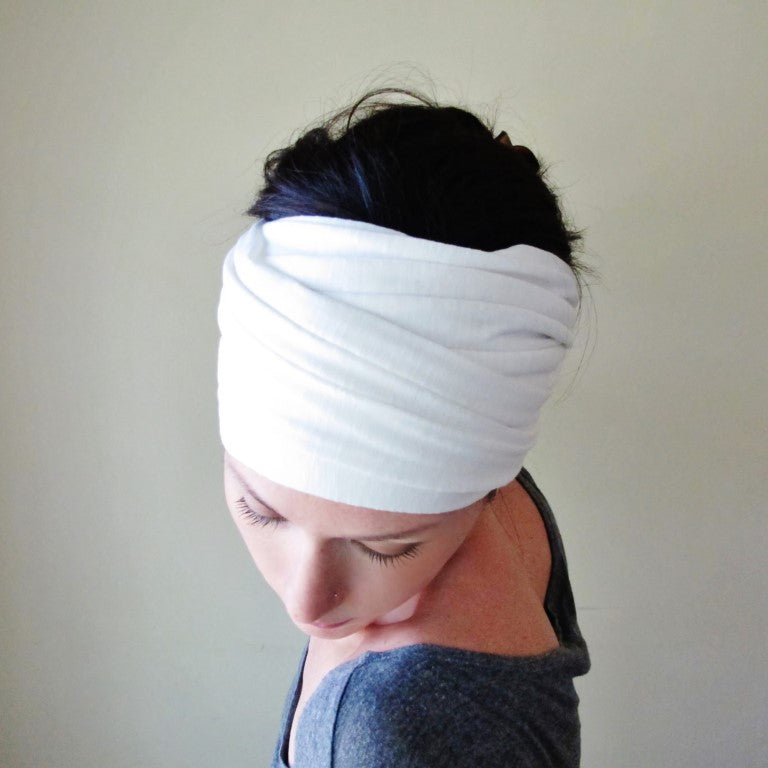 ecoshag white alopecia head covering for women