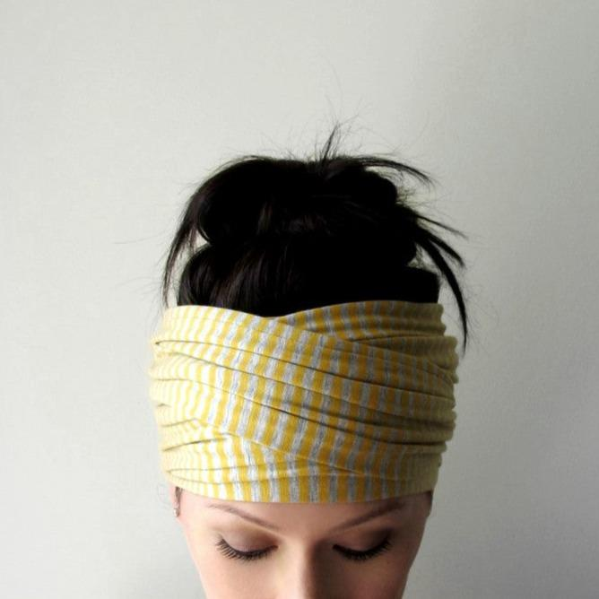ecoshag striped boho head scarf for women