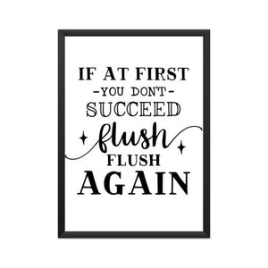 If At First You Don't Succeed Flush Flush Again
