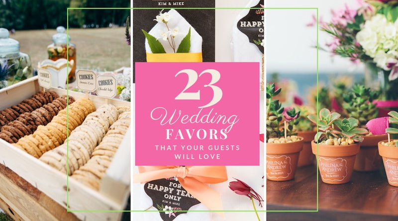 23 wedding favor ideas