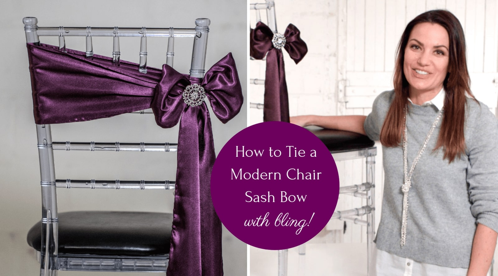 How to Tie a Chair Sash - The Angled Bow Method