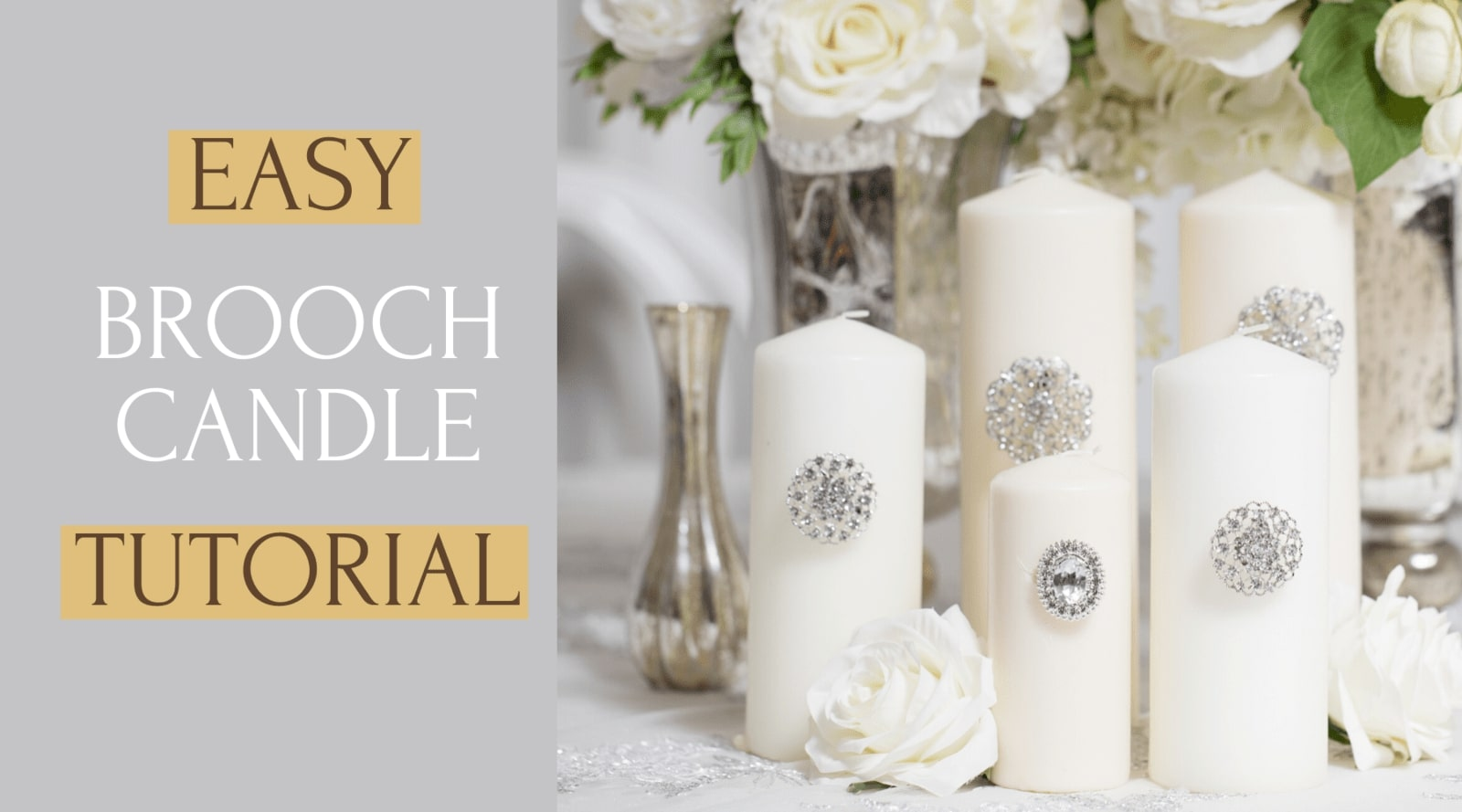 Easy Brooch Candle Tutorial