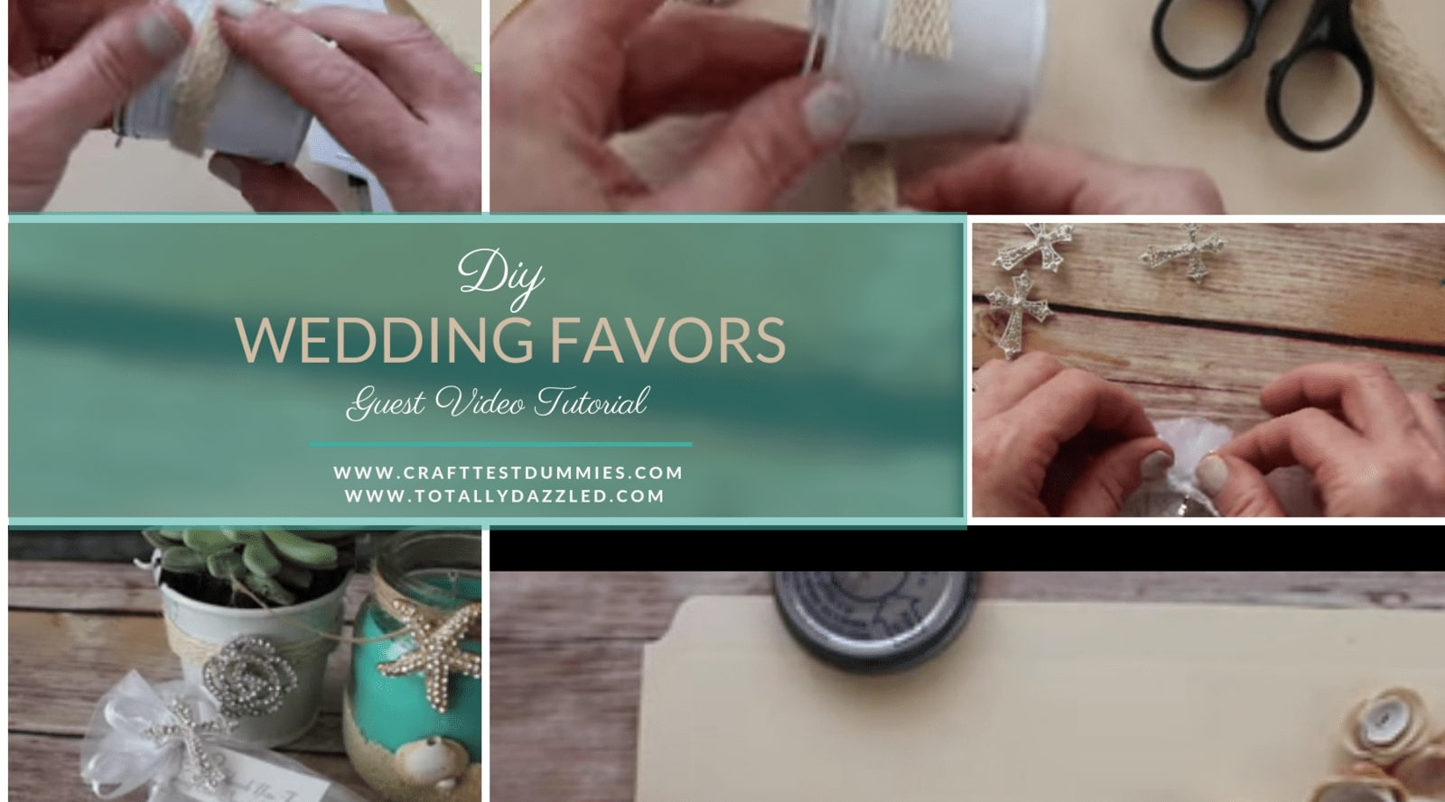 Totally Dazzled Wedding Favor Crafts with Craft Test Dummies