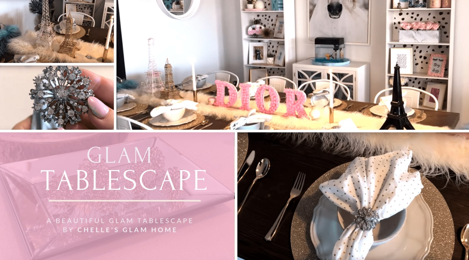 Glam Tablescape by Chelle's Glam Home