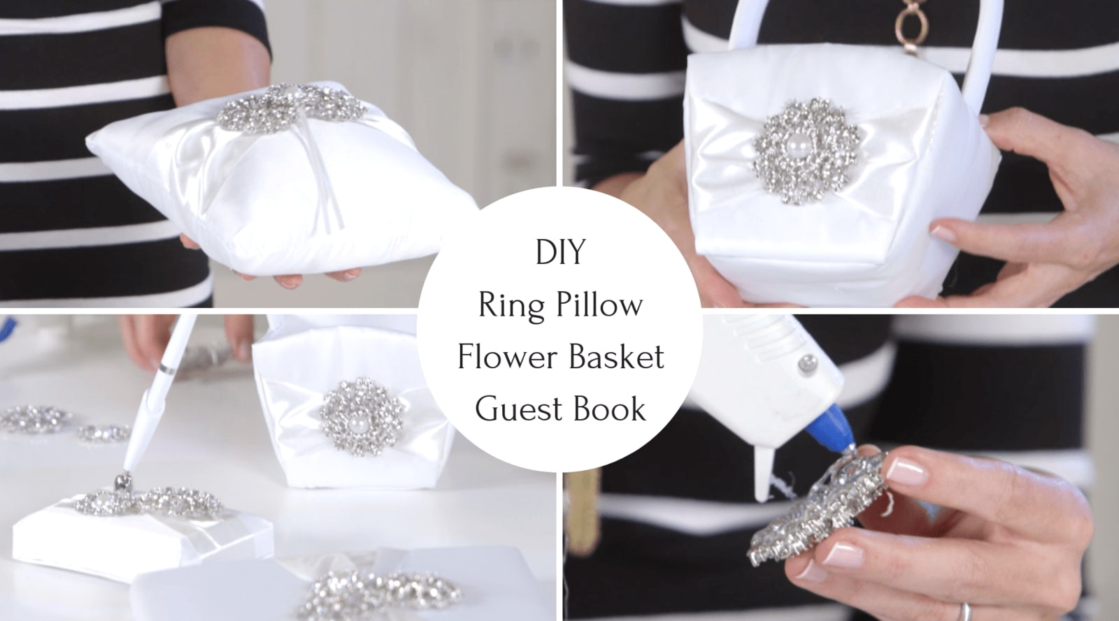 DIY Tutorial - Ring Bearer Pillow, Flower Basket and a Guest Book