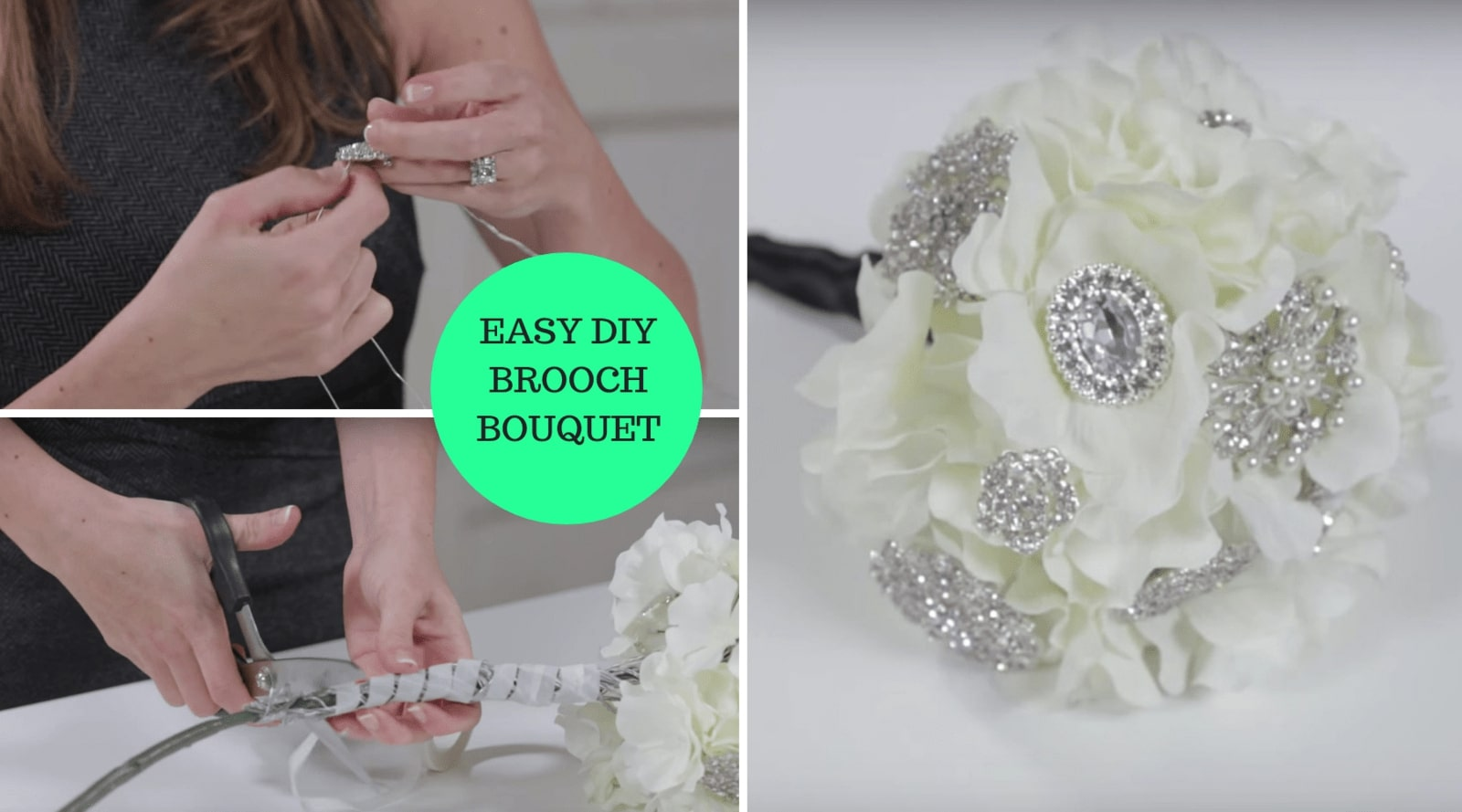how to make brooch bouquet tutorial