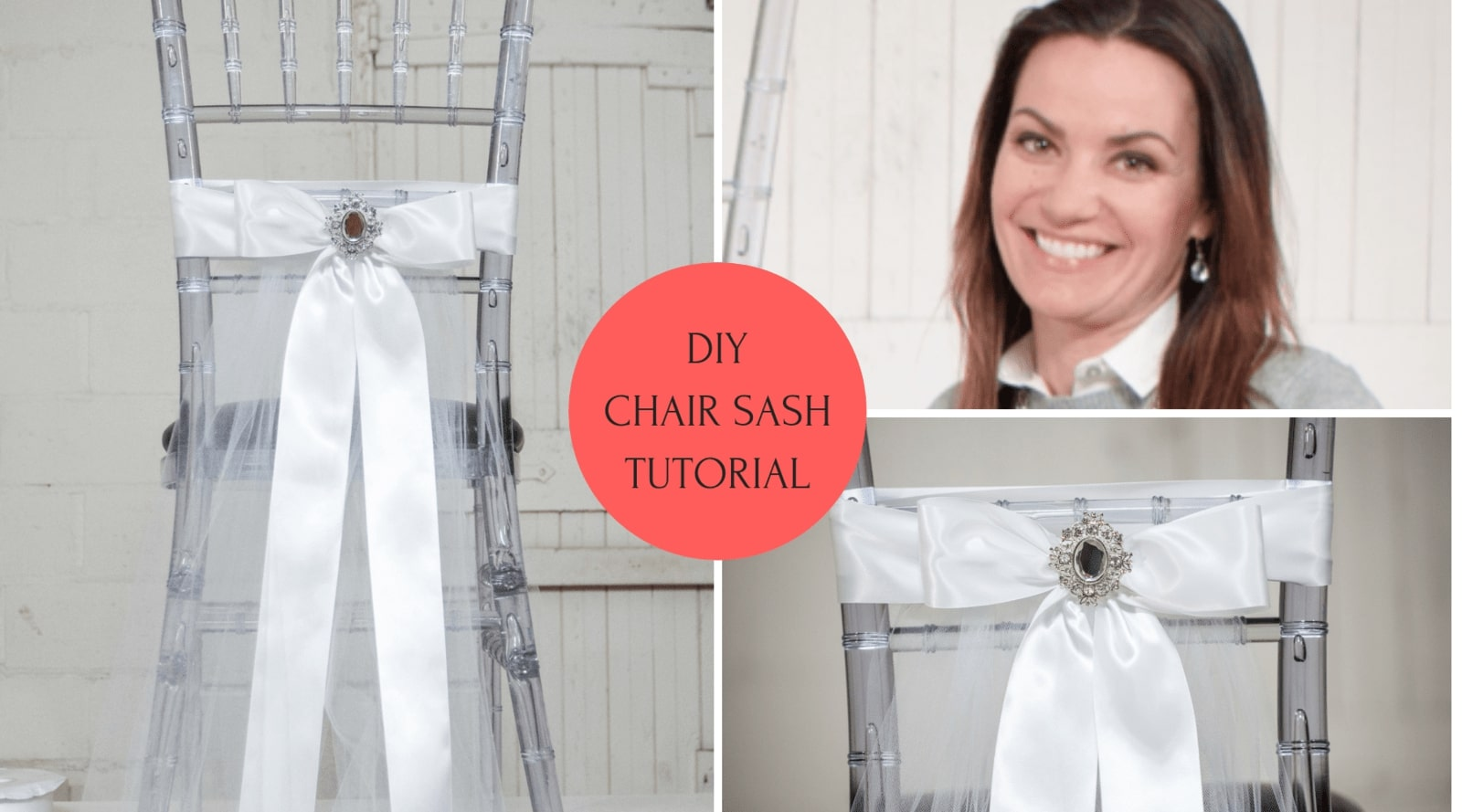 DIY Rhinestone Chair Sash