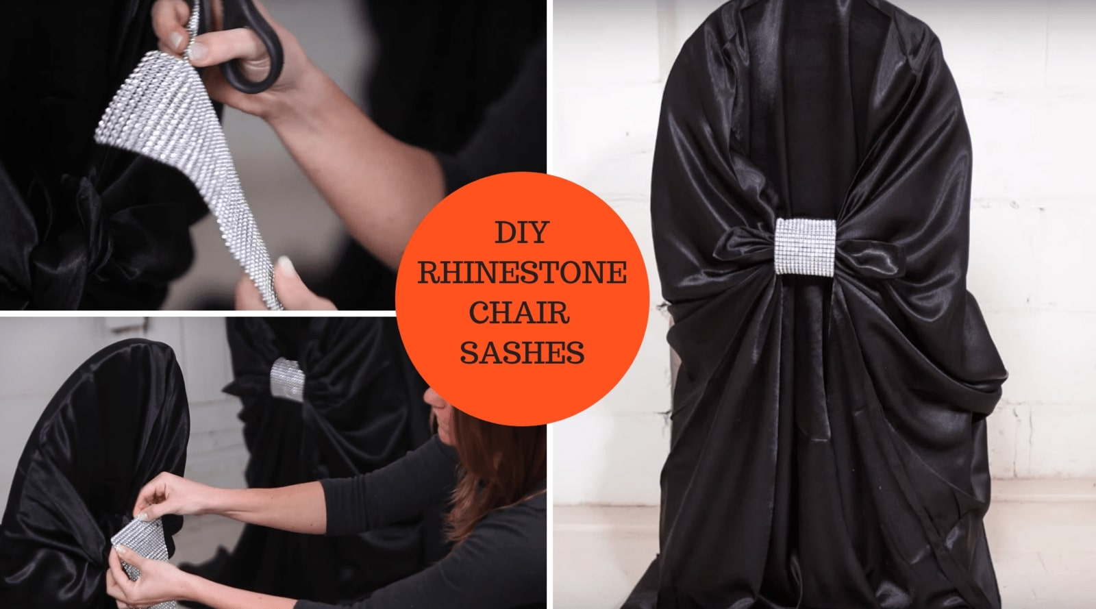 DIY RHINESTONE CHAIR EMBELLISHMENT TUTORIAL