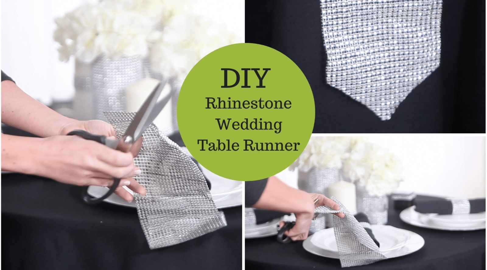 DIY Rhinestone Table Runner – Our Easiest One Yet