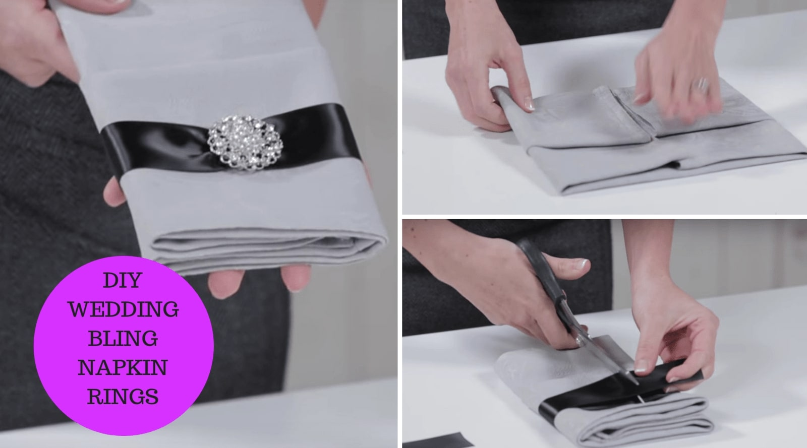 DIY Wedding Bling Napkin Rings a Do it Yourself Wedding Decoration Project