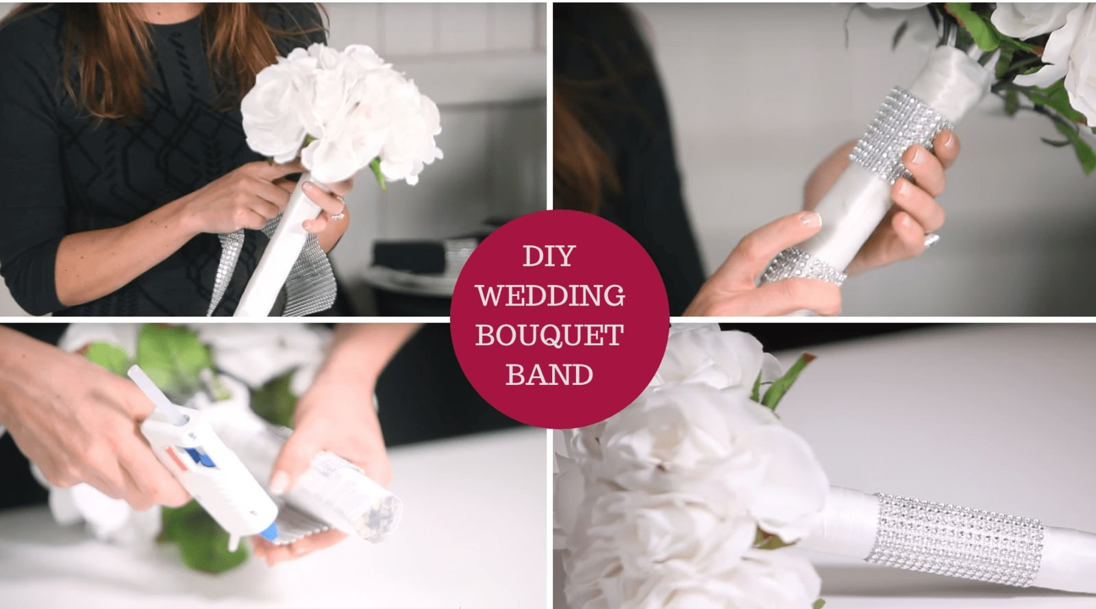 DIY Wedding Bouquet Band with Bling