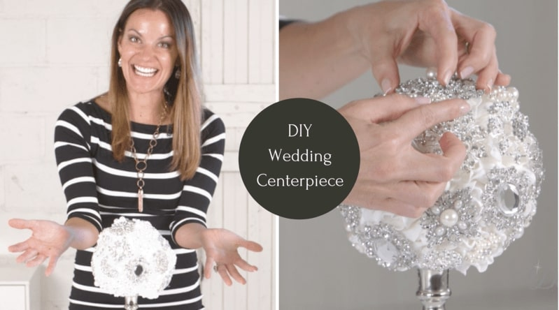 Wedding Decoration - DIY Brooch Bouquet Centerpiece