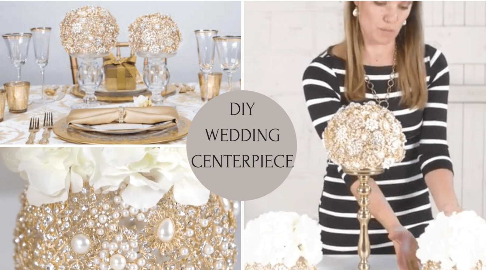 Wedding Decoration - DIY Bling Centerpieces - Totally Dazzled