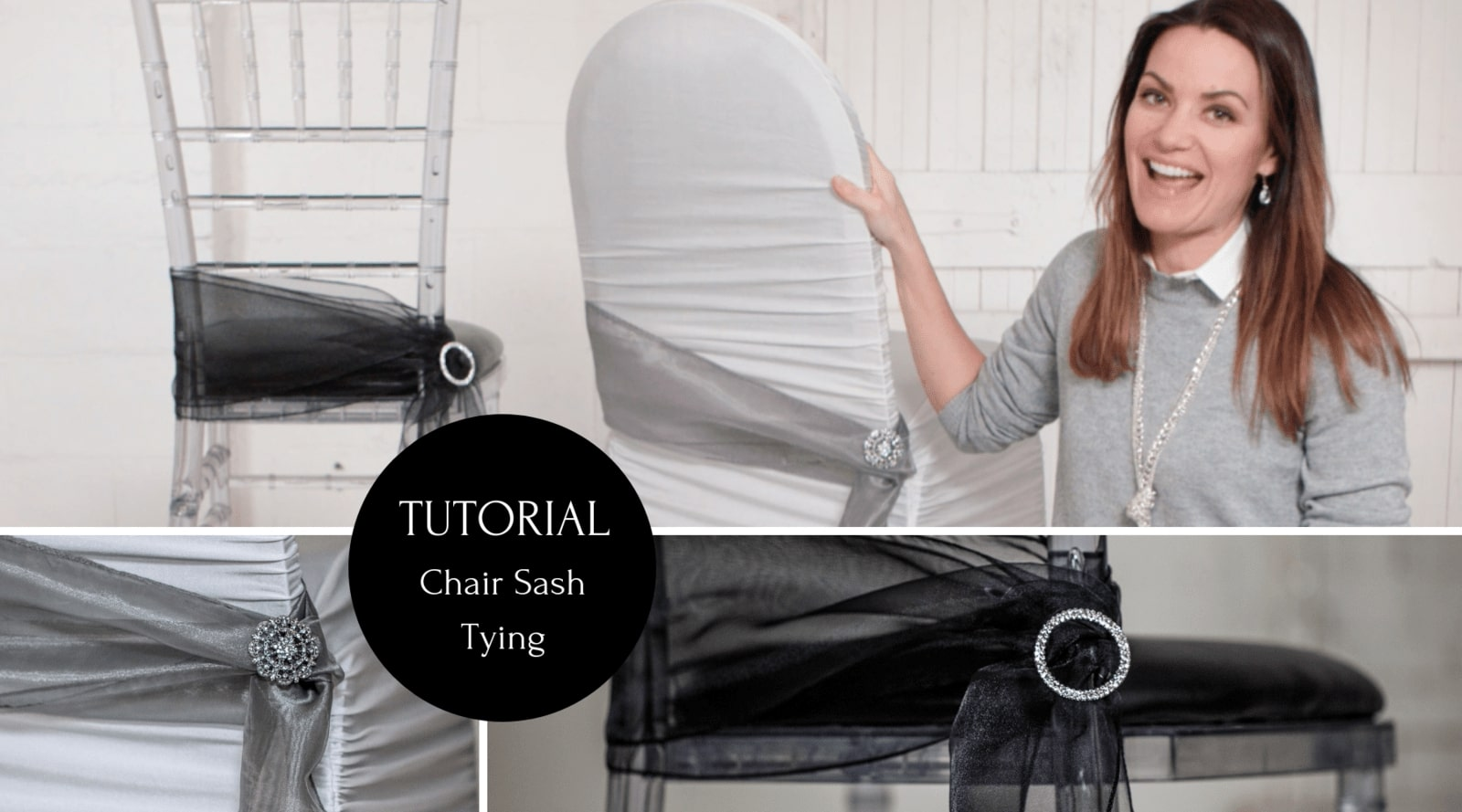 DIY Chair Sash Tying