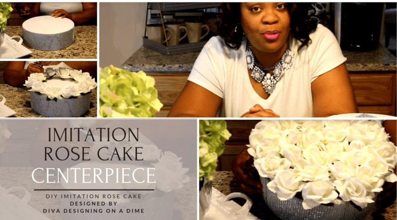Diva Designing on a Dime with Kimberly Davis's Imitation Rose Cake Centerpiece Tutorial