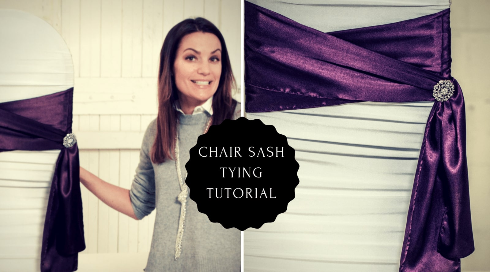 Chair Sash Tying Tutorial- Double Wrap with Side Bow Chair Sash Ties