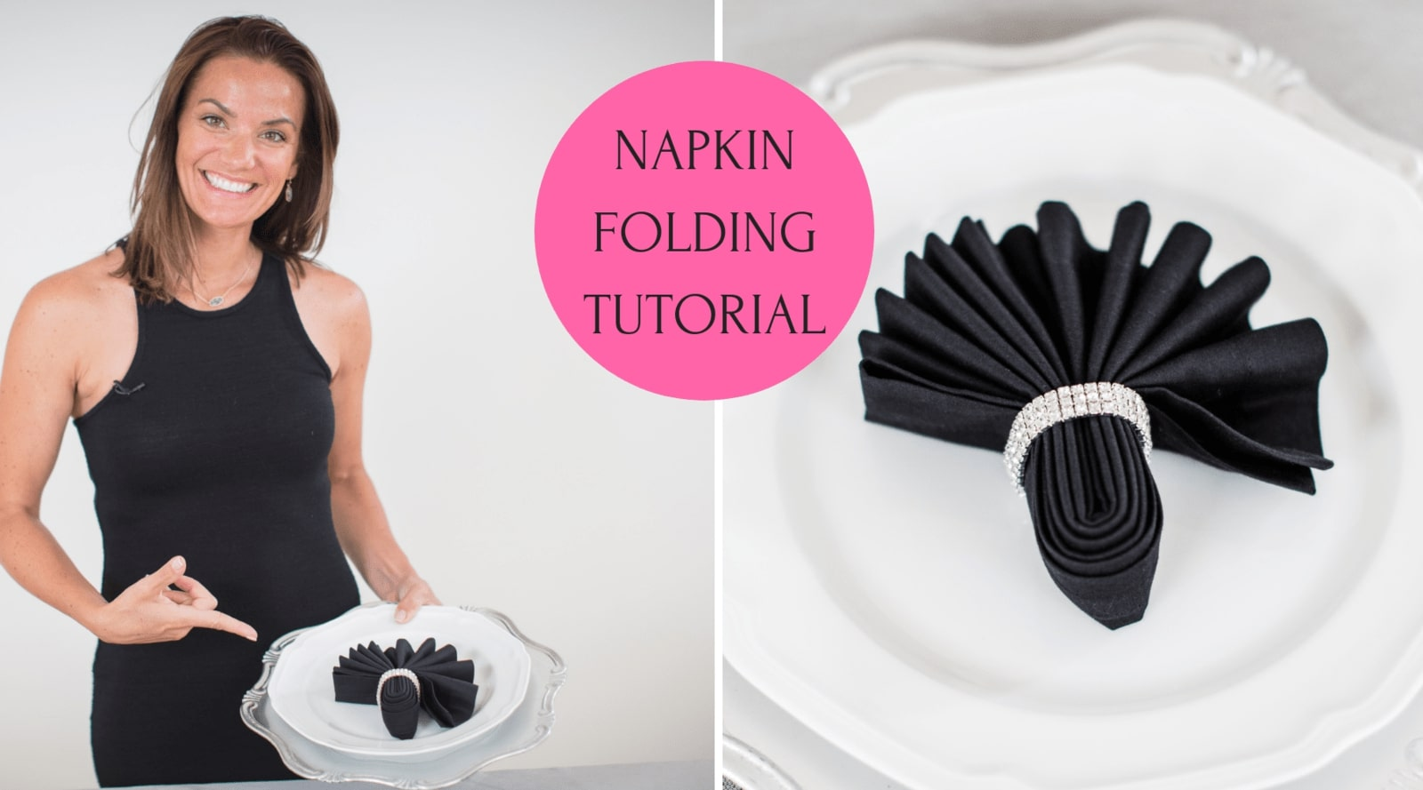 Napkin Fold for Wedding Fan Napkin Fold Tutorial - Quick, Easy and Stylish