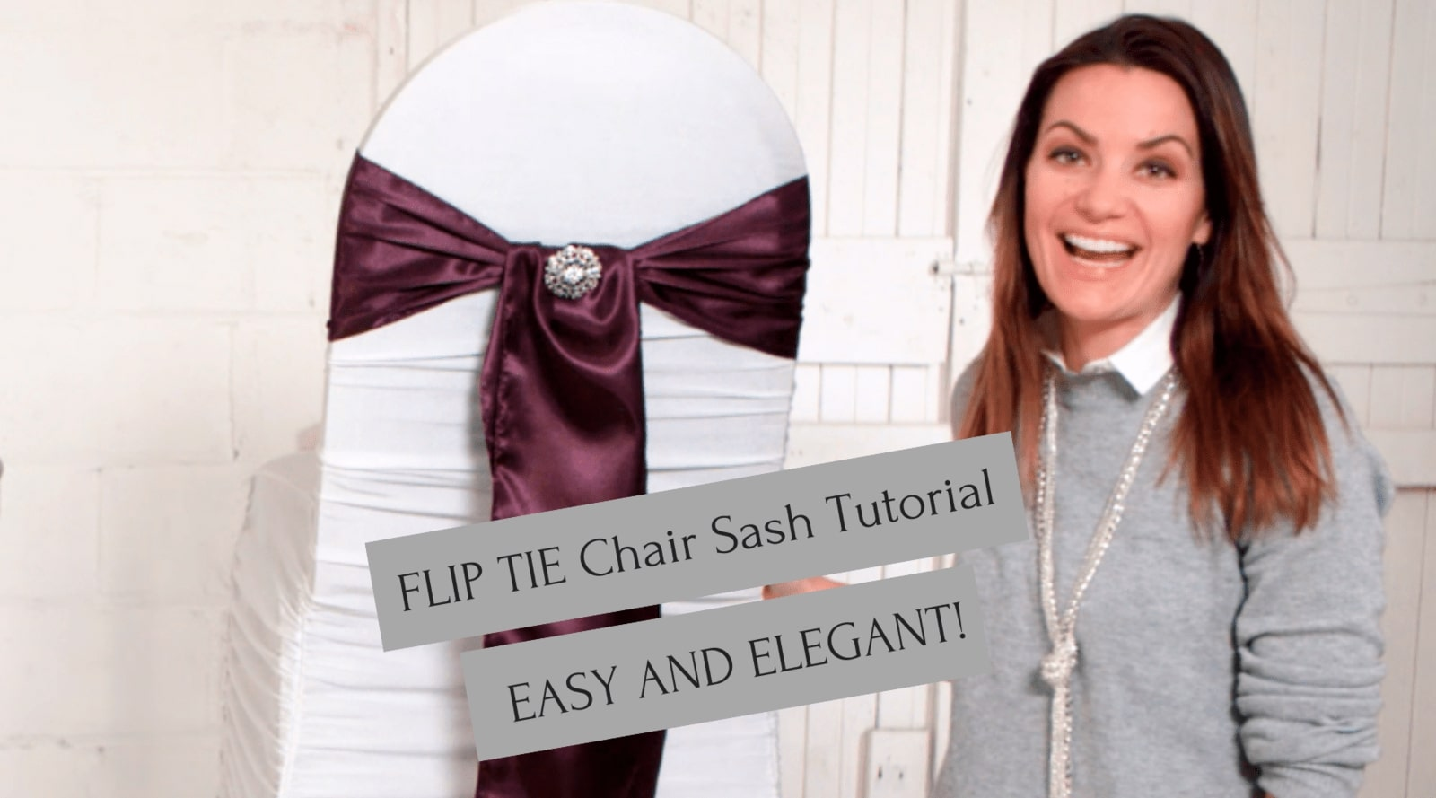 How to Tie a Flip Tie Chair Sash