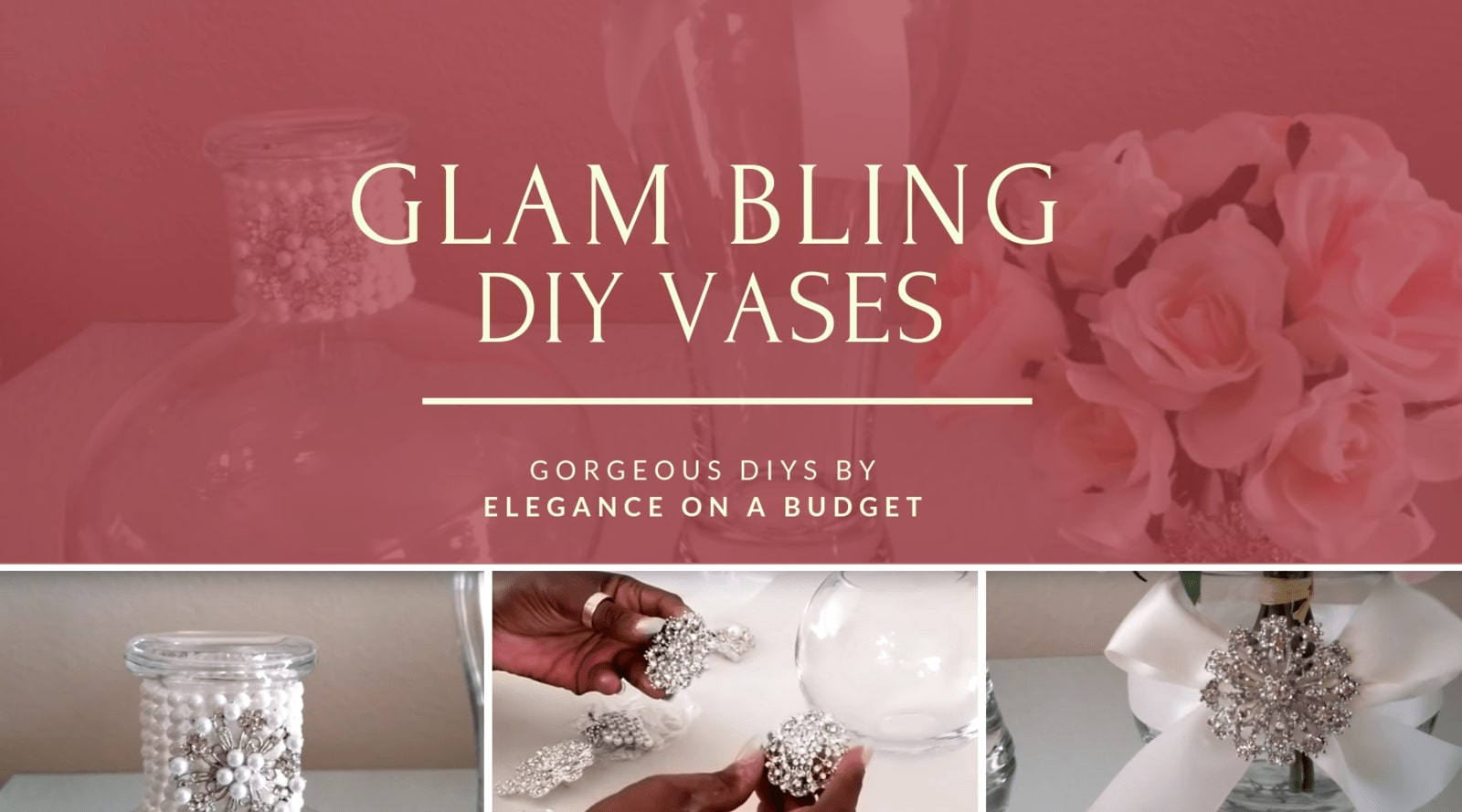 Gorgeous Glam Bling Vases By Elegance on a Budget