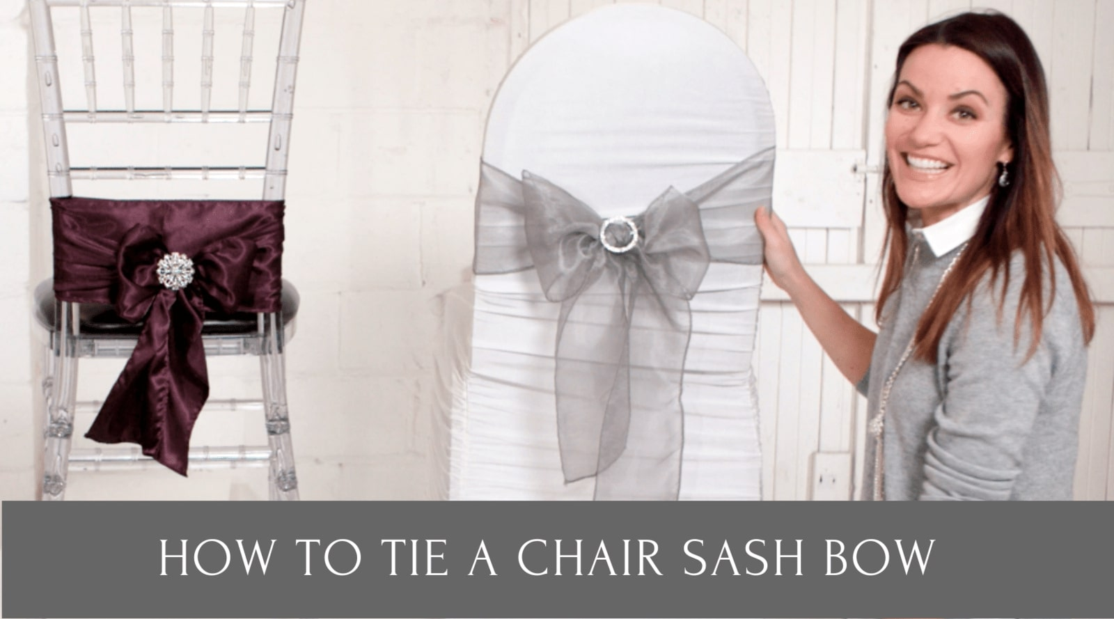 how to tie chair sash bow