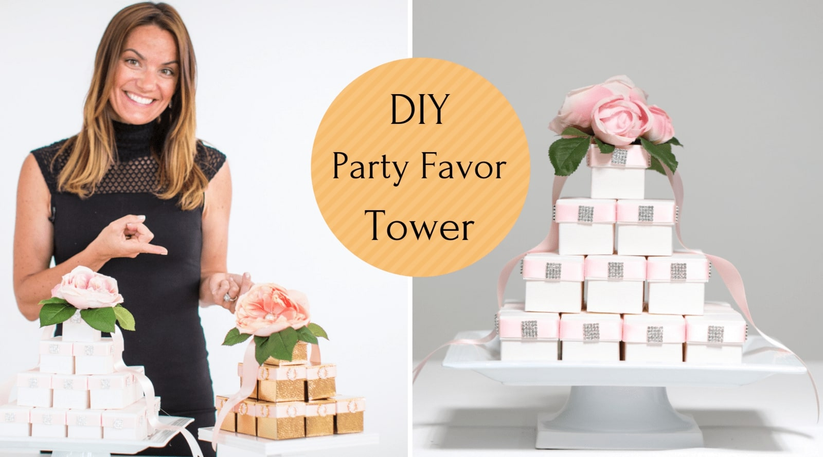 Wedding Favor Box Decoration Ideas - YouTube Tutorial