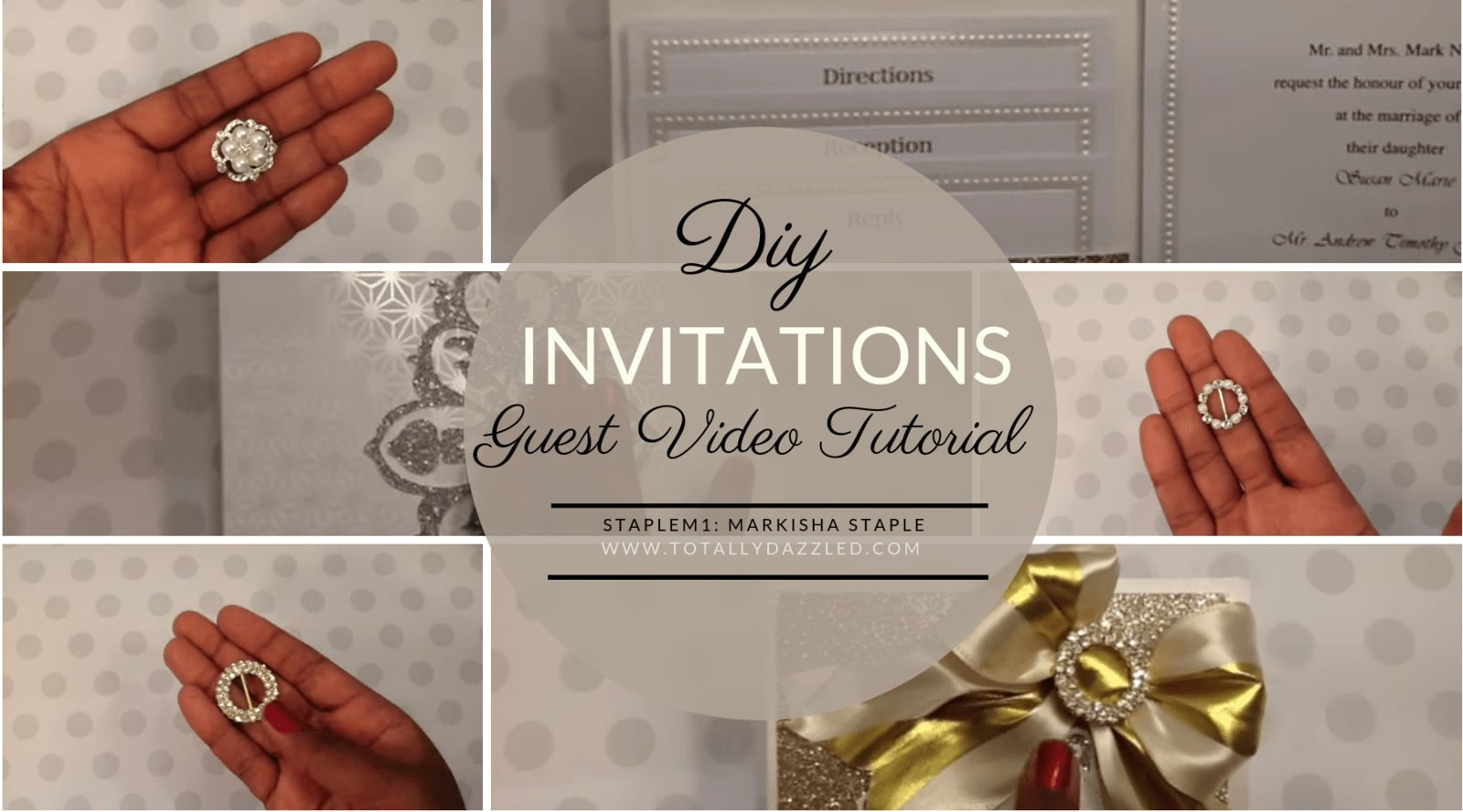 Totally Dazzled Wedding Invitations with Youtuber Markisha Staple