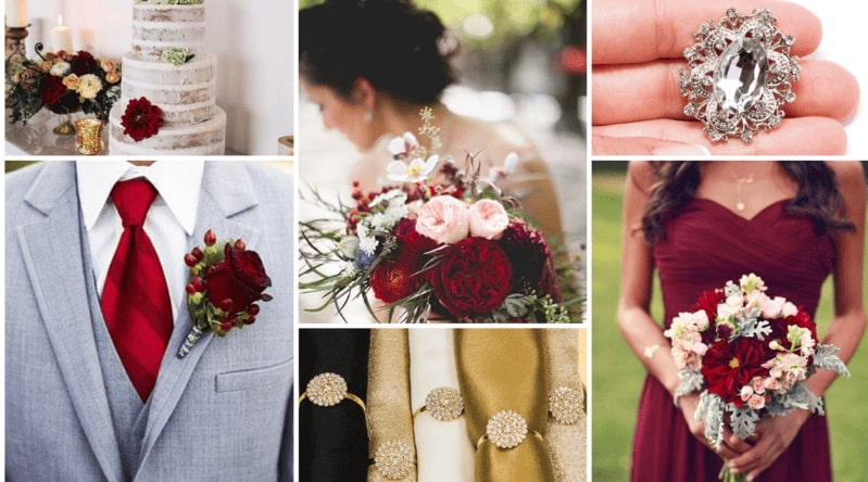 Marsala And Gold Wedding Color Inspiration