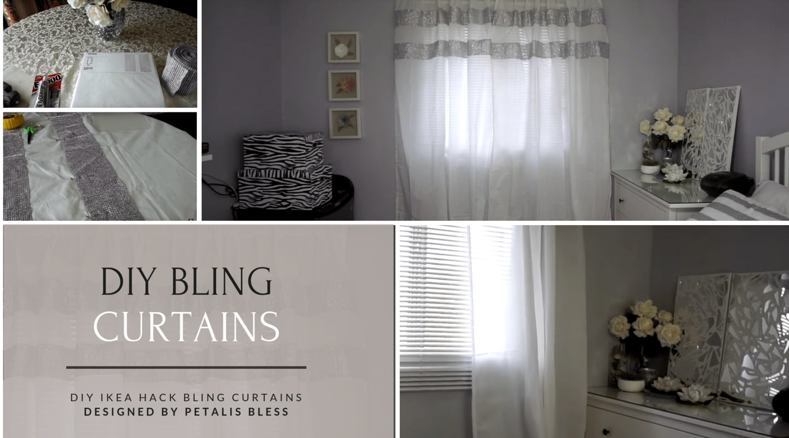 Petalis Bless Ikea Hack DIY Bling Curtains