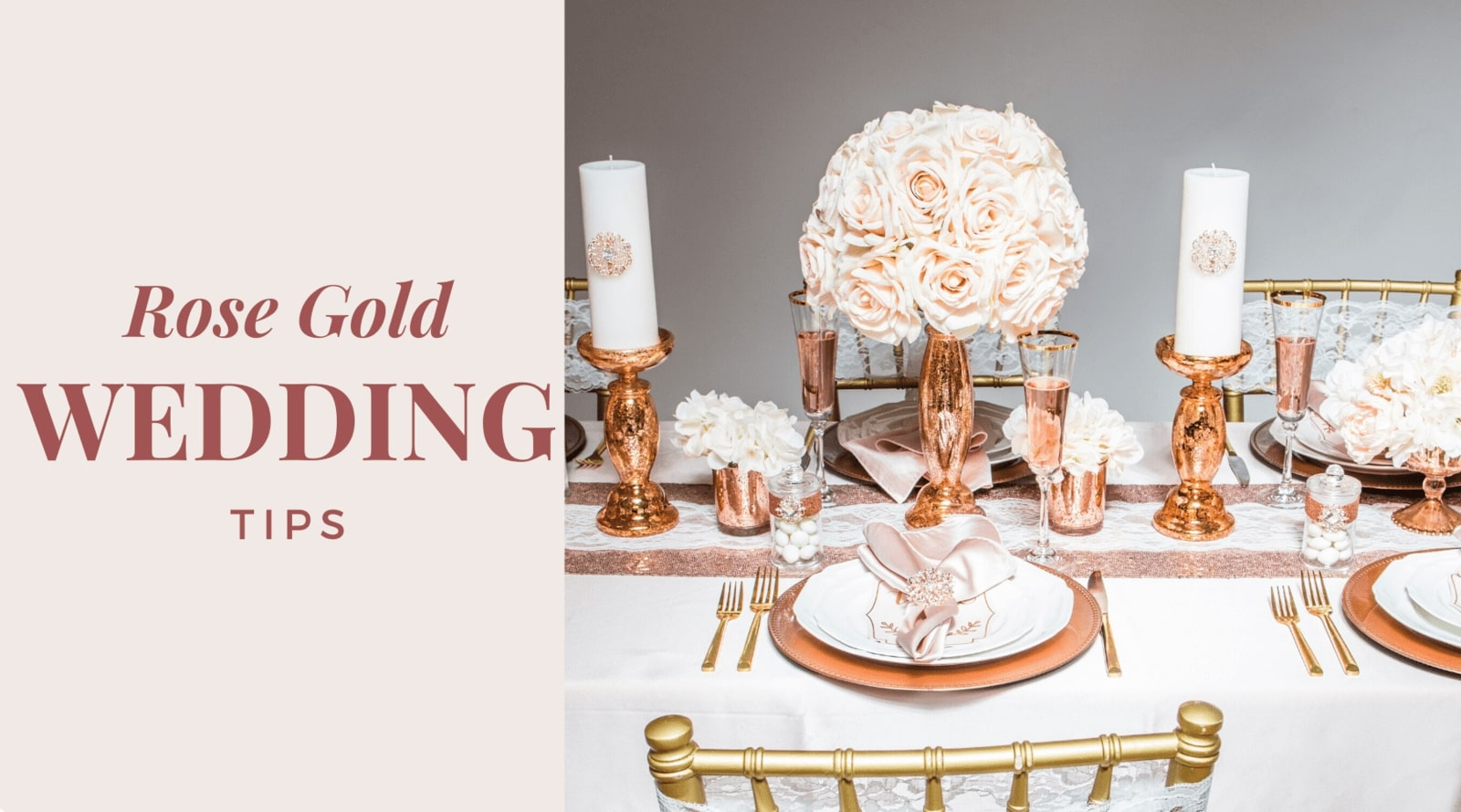 Rose Gold Wedding Decor Tips - Totally Dazzled