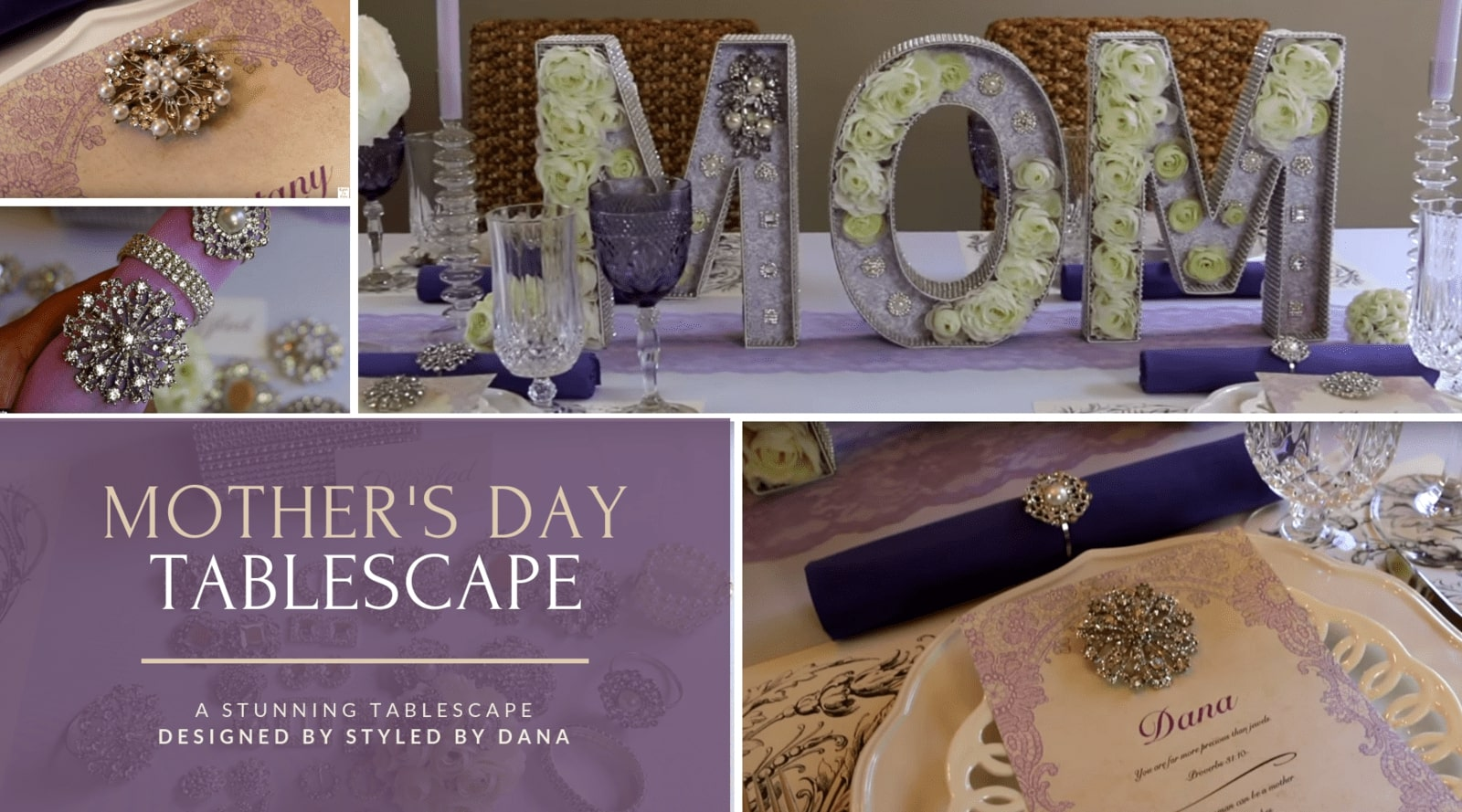 Styled by Dana Mother's Day Tablescape
