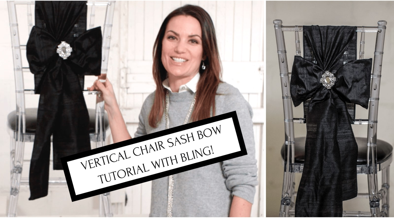 How to Tie a Vertical Chair Sash