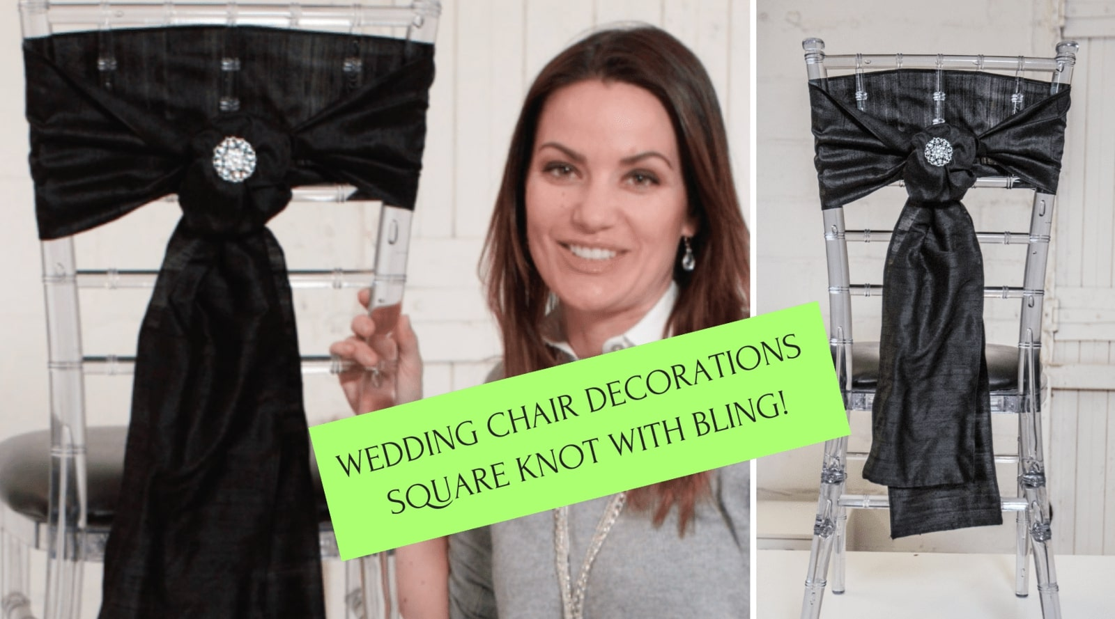 diy chair sash idea