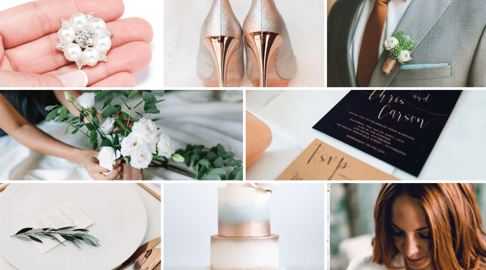 Copper and White Wedding Inspiration