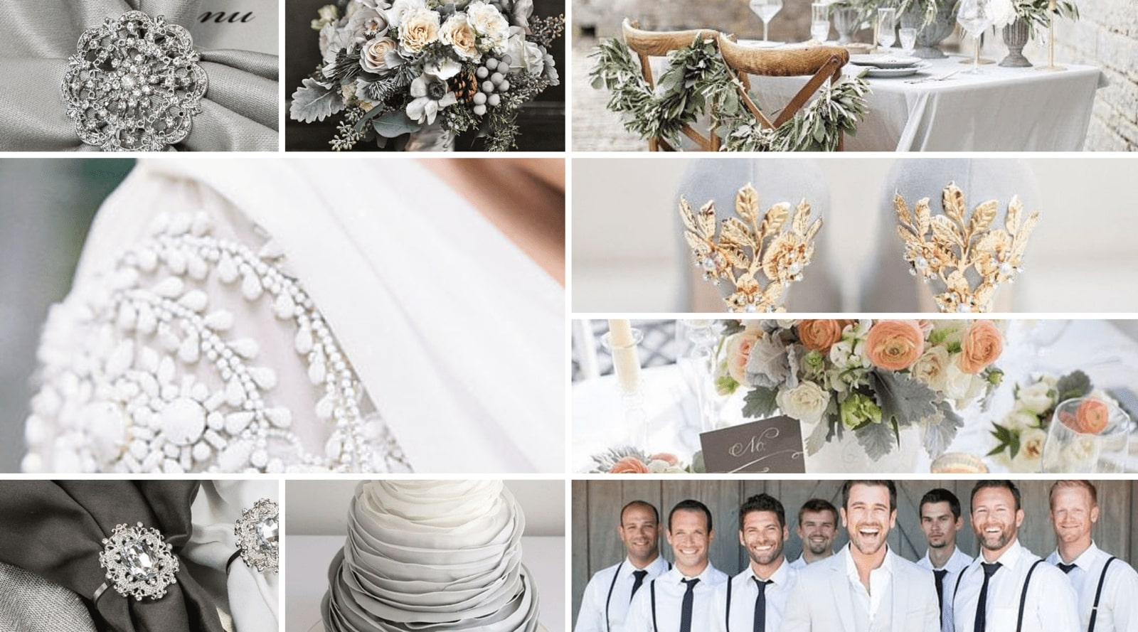 Gray Wedding Theme Color Inspiration - Totally Dazzled