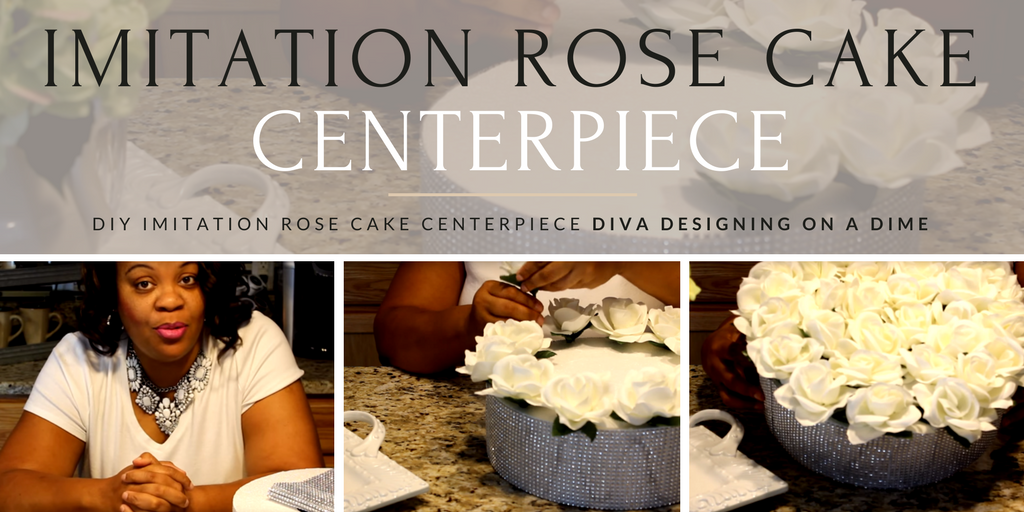 Designing on a Dime with Kimberly Davis Imitation Rose Cake