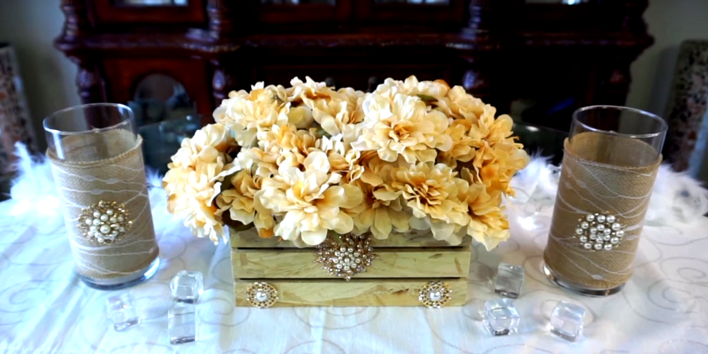 Petalisbless's Beautiful Glam Rustic Centerpiece