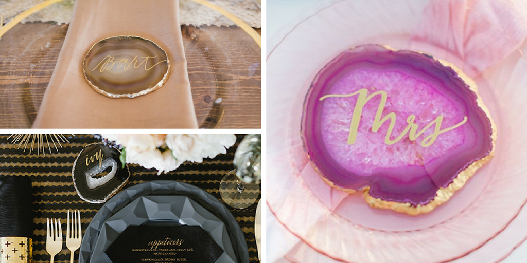 23 wedding favors - agate place cards