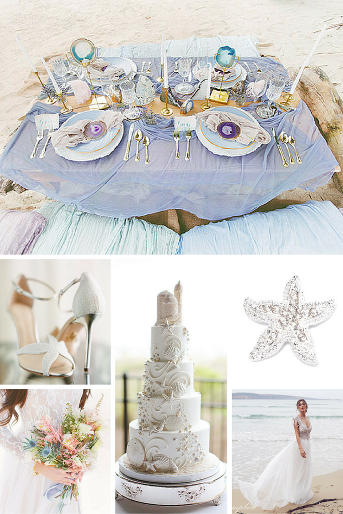 Totally Dazzled Beach Wedding Theme Inspiration